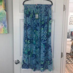 Beautiful Silky Lilly Pulitzer Maxi Skirt NWT